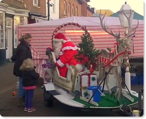 Father Christmas in Epsom